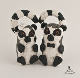 Cute Ring Tailed Lemurs Cake Topper