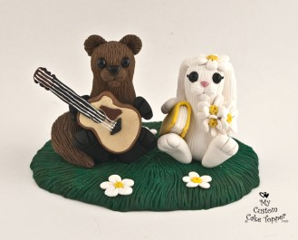 Cute Squirrel and Bunny Cake Topper