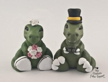 Dinosaurs T-Rex Gaming Cake Topper