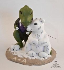 Dinosaur T-Rex And Polar Bear Cake Topper