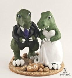 Dinosaur T-rex Standing Wedding Cake Topper