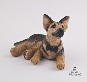 German Shepherd Cake Topper