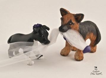 Dogs Wedding Cake Topper