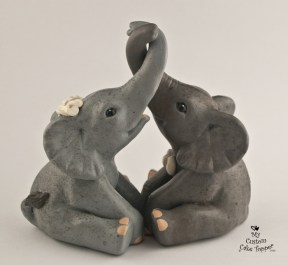 Elephants Entwined Cake Topper