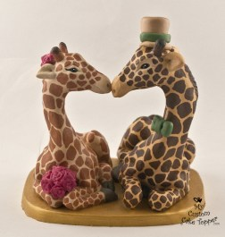 Giraffe Love Custom Cake Topper