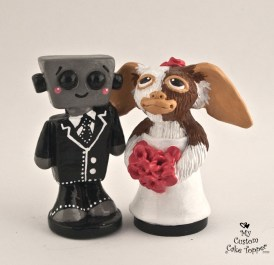 Gizmo And Love Bot Cake Topper