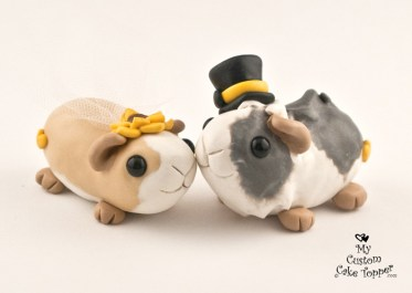 Guinea Pig Love Custom Cake Topper