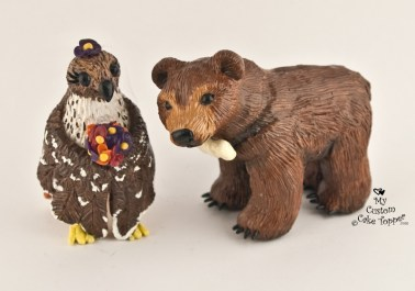Hawk and Bear Custom Cake Topper