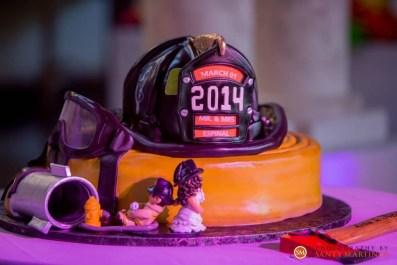 Heidi's Dragging Her Fireman Cake Topper