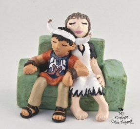 Ico And Yorda On Couch Cake Topper
