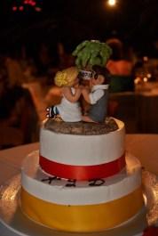 Kim's Beach Wedding Cake Topper