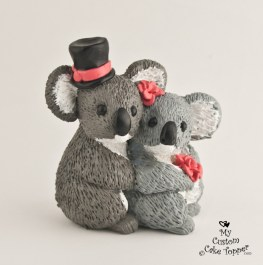 Koalas In Love Cake Topper