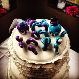 Lindsay's Octopus Wedding Cake Topper