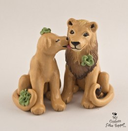Lioness Licking Lions Cheek Cake Topper