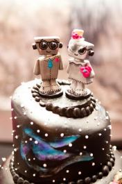 Love Bots Cake Topper