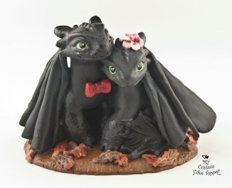 Night Fury Toothless How to Train Your Dragon Wedding Cake Topper