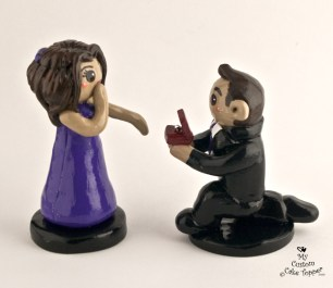 The Proposal Cake Topper