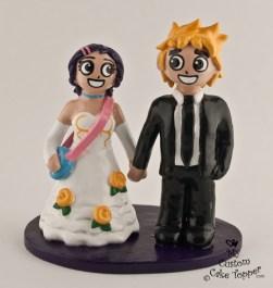 Scott And Ramona Wedding Cake Topper