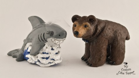 Shark and Bear Cake Topper