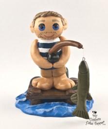 The Birthday Boy Fishing Cake Topper