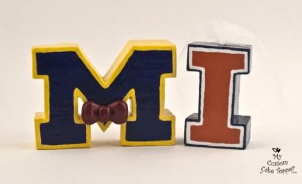 University Letters Cake Topper