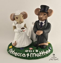 Victorian Rats Wedding Cake Topper