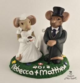 Victorian Rats Custom Wedding Cake Topper