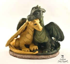 Dragons In Love Custom Wedding Cake Topper