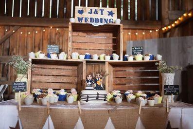 J & T's Wedding Cake Topper