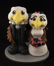 Mr and Mrs Baldwin Eagle Cake Topper