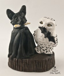 Owl and Bat Love Cake Topper