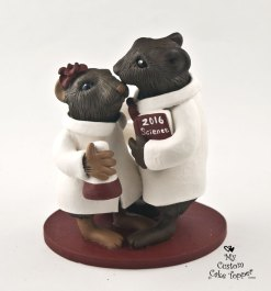 Vole Scientists Custom Wedding Cake Topper