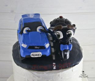 Car Mustang and Motorcycle Indian Vehicle Cake Topper