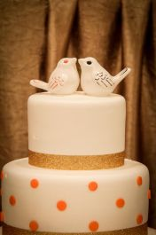 Diane's Stylized Birds Wedding Cake Topper
