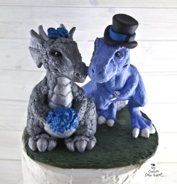 Dinosaur and Dragon Love Cake Topper