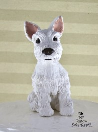 """Dog Realistic """"Penny"""" White Cake Topper Pet"""