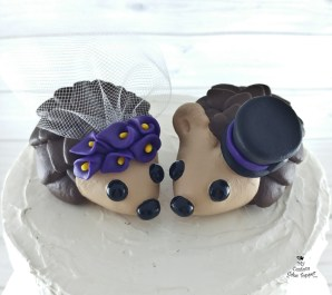 Hedgehogs with Calla Lilies Cake Topper