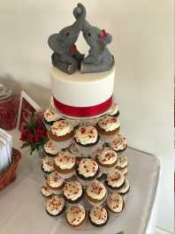 Jamies Custom Seated Elephants Wedding Cake Topper