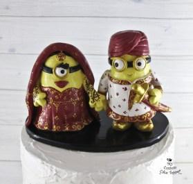 Minions Sikh Wedding Cake Topper