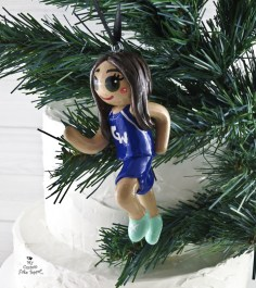 Runner Girl Christmas Ornament