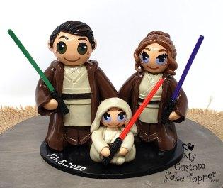 Bride, Groom, Baby Jedi Family