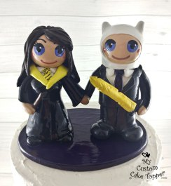 Bride and Groom Hufflepuff and Adventure Time Finn