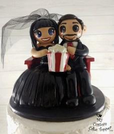 Bride and Groom Movie Theatre Popcorn
