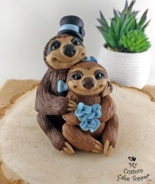Brown Sloths with Accessories
