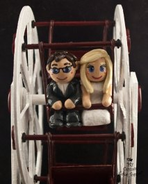 Bride and Groom Riding a Ferris Wheel Cake Topper 1
