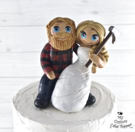 Bride and Groom Arborists Cake Topper