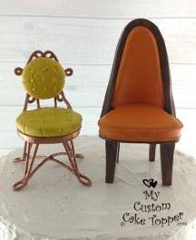 Custom Chairs Wedding Cake Topper