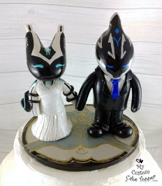 Warframe Gaming Chibi Style Characters Cake Topper