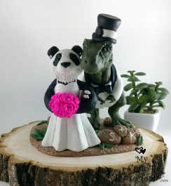 T-Rex and Panda Cake Topper