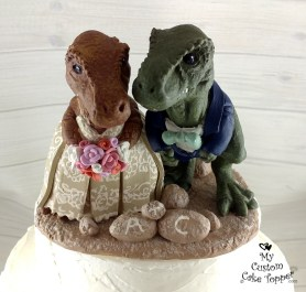 Realistic T-Rex Wedding Cake Topper